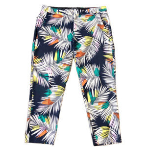 Banana Republic Palm Leaf Print Cropped Pants - 12